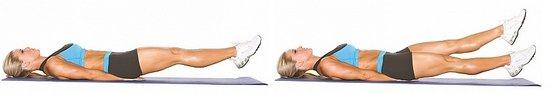 Фото выполнения упражнения для нижнего пресса - ножницы