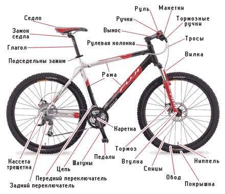 Как выбрать велосипед: схема велосипеда