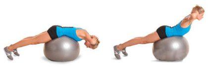 Упражнения на фитболе для похудения, пресса и спины